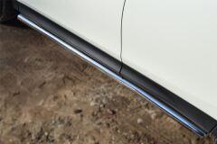Защита порогов D63 (вариант 3) для Toyota Rav4 2013-2015