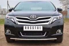 Защита переднего бампера D42 (секции) для Toyota Venza 2013-