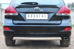 Защита заднего бампера 75х42 (дуга) для Toyota Venza 2013-