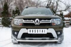 Защита переднего бампера D63 (дуга) для Renault Duster 2015-