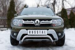 Защита переднего бампера D63 (волна) для Renault Duster 2015-