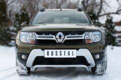 Защита переднего бампера D42 (волна) для Renault Duster 2015-