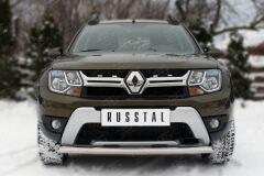 Защита переднего бампера D75X42 (дуга) для Renault Duster 2015-