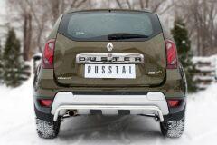 Защита заднего бампера D42 (волна) для Renault Duster 2015-
