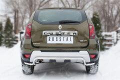 Защита заднего бампера D42 (волна) длинная для Renault Duster 2015-