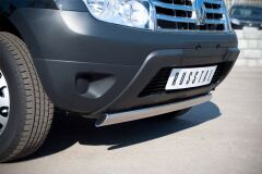 Защита переднего бампера D75х42 овал для Renault Duster 4x2 2011-
