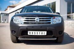Защита переднего бампера D42 (дуга) для Renault Duster 4x2 2011-