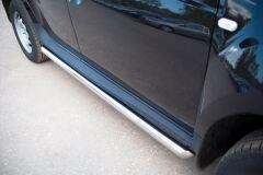 Пороги труба D63 (вариант 1) для Renault Duster 4x2 2011-