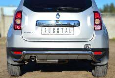 Защита заднего бампера D42 волна для Renault Duster 4x4 2011-