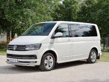 Защита переднего бампера D42 секция-D42секция для Volkswagen Multivan Caravella Transporter T6 2016 (короткая база)