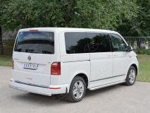 Защита заднего бампера D63 дуга для Volkswagen Multivan Caravella Transporter T6 2016 (короткая база)
