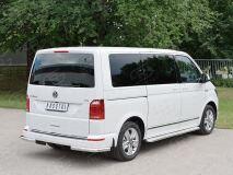 Защита заднего бампера уголки D63 секция для Volkswagen Multivan Caravella Transporter T6 2016 (короткая база)