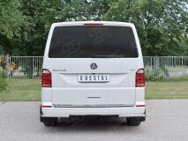 Защита заднего бампера уголки D42 секция для Volkswagen Multivan Caravella Transporter T6 2016 (короткая база)