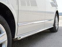 Пороги труба D42 левый для Volkswagen Multivan Caravella Transporter T6 2016 (короткая база)