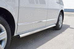 Пороги труба D63 левый (вариант 2) для Volkswagen Multivan Caravella Transporter T6 2016 (короткая база)