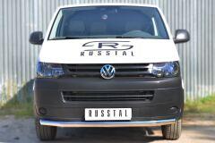 Защита переднего бампера D63 (секции) для Volkswagen Transporter kasten T6 2010