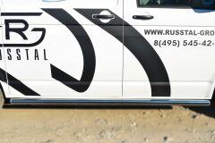 Пороги труба D63 (вариант 3) (правый) для Volkswagen Transporter kasten T6 2010