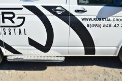 Пороги труба D42 с листом для Volkswagen Transporter kasten T6 2010