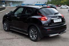 Защита заднего бампера D76/63 (ступень) для Nissan Juke 4x4 2010-