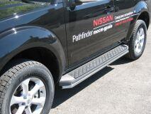 Пороги труба D42 для Nissan Pathfinder IV 2004-2009