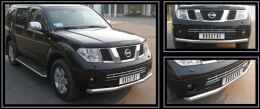 Защита переднего бампера D76 для Nissan Pathfinder IV 2004-2009