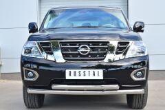 Защита переднего бампера D76 (дуга) D76 (дуга) для Nissan Patrol 2014-