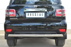 Защита заднего бампера D75х42 (дуга) для Nissan Patrol 2014-