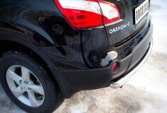 Защита заднего бампера D63 (дуга) для Nissan Qashqai +2 2010-