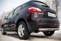 Защита заднего бампера D63 (дуга) для Nissan Qashqai 2010-2013