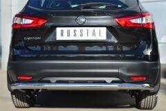 Защита заднего бампера D63 (секции) для Nissan Qashqai 2014-
