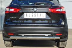 Защита заднего бампера D75х42 (дуга) для Nissan Qashqai 2014-