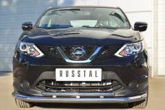 Защита переднего бампера D63 (секции) D42 (дуга) для Nissan Qashqai 2014-
