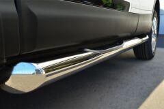 Пороги труба D76 с накладкой (вариант 1) для Nissan Qashqai 2014-