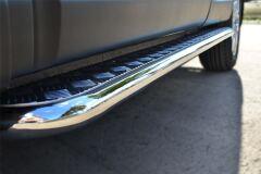 Пороги труба D42 с листом для Nissan Qashqai 2014-