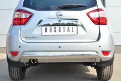 Защита заднего бампера D75х42 (дуга) для Nissan Terrano 2014-
