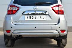 Защита заднего бампера D42 (дуга) для Nissan Terrano 2014-