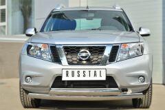 Защита переднего бампера D75х42 (дуга) D75х42 (дуга) для Nissan Terrano 2014-