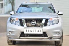 Защита переднего бампера D63 (секции) для Nissan Terrano 2014-