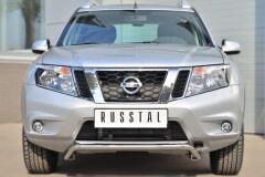 Защита переднего бампера D42 (волна) под машину для Nissan Terrano 2014-