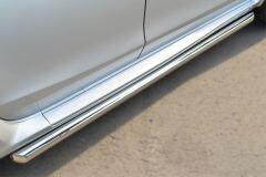 Пороги труба D63 (вариант 1) для Nissan Terrano 2014-