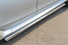 Пороги труба D63 (вариант 2) для Nissan Terrano 2014-