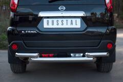 Защита заднего бампера D76/63 (дуга) для Nissan X-Trail 2011-2014
