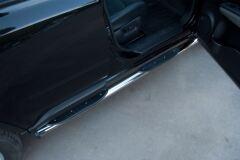 Защита порогов D76 с накладкой (вариант 2) для Nissan X-Trail 2011-2014