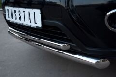 Защита переднего бампера D63/42 (дуга) для Nissan X-Trail 2011-2014