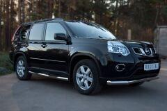 Защита переднего бампера D63 секции для Nissan X-Trail 2011-2014