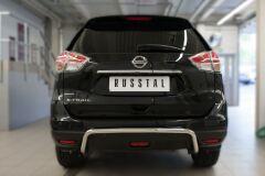 Защита заднего бампера D42 (волна) для Nissan X-Trail 2015-