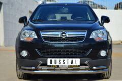 Защита переднего бампера D63 (секции) D42 (уголки) для Opel Antara 2012-