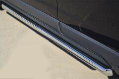 Пороги труба D63 (вариант 1) для Opel Antara 2012-