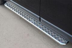Пороги труба D42 с листом для Opel Antara 2012-