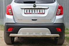 Защита заднего бампера 75х42 (дуга) для Opel Mokka 2013-